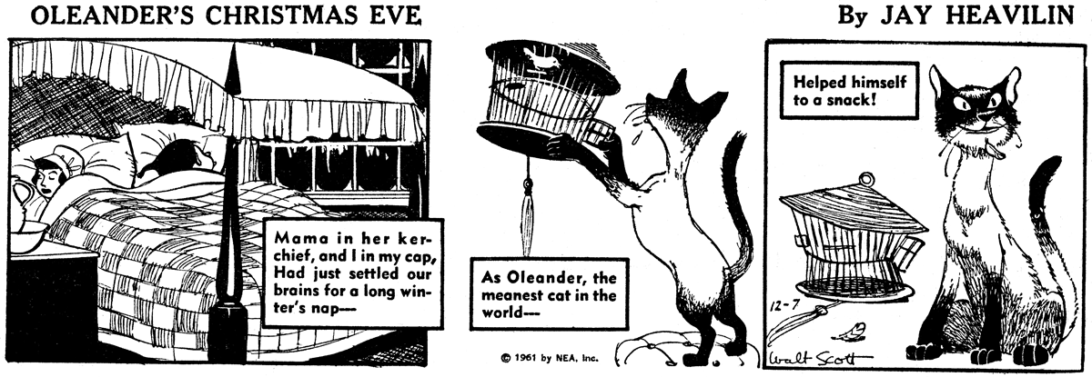 Oleander's Christmas Eve by Jay Heavilin and Walt Scott.
