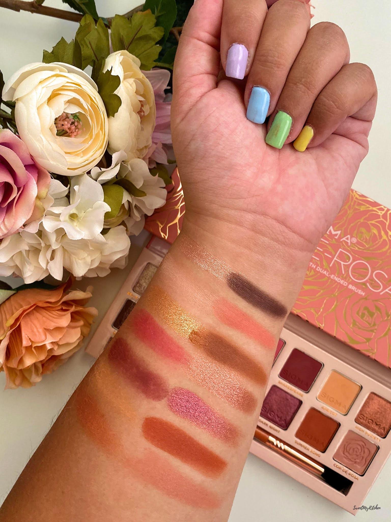 Sigma Beauty Cor-de-Rosa swatches