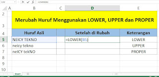 Cara Merubah Huruf Kecil Menjadi Huruf Besar di Excel dengan Keyboard