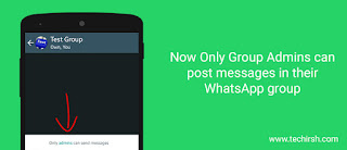only admins can message in whatsapp group