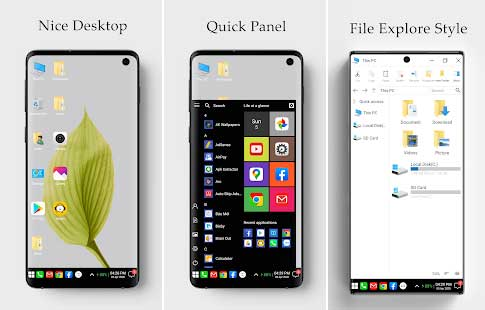 تطبيق  Computer Launcher لتحويل هاتفك الاندرويد الى ويندوز 10