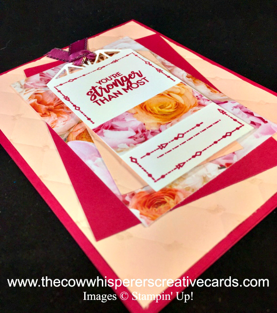 Card, Beautiful Promenade, Tufted Embossing Folder, Beautiful Layers Thinlits Dies