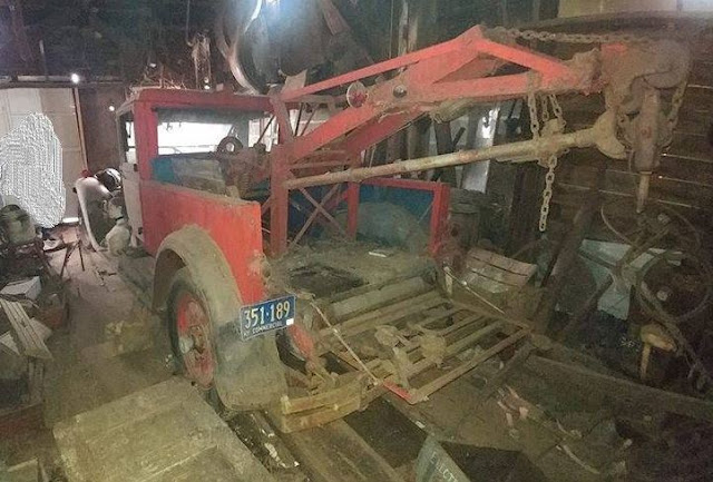 Craigslist Long Island Free Stuff >> Just A Car Guy: 1929 Packard limo was converted into a tow truck, and after storage in a garage ...