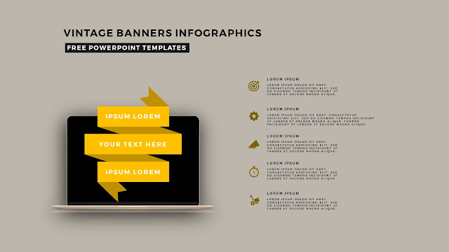 Vintage Banners Infographic Free PowerPoint Template Slide 11