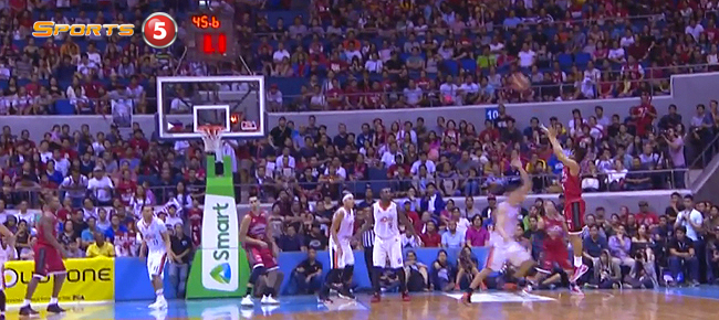 Scottie Thompson's Dagger Three vs Meralco in Game 5 (VIDEO)