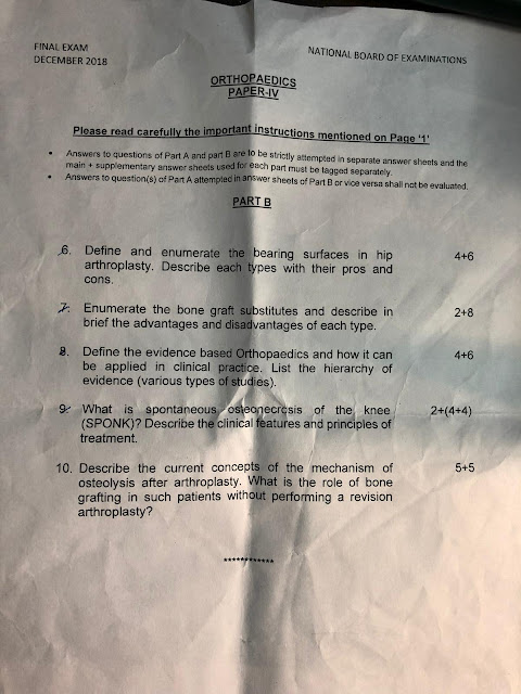 dnb orthopaedis theory question paper december 2018
