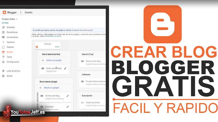 Como Crear un Blog en Blogger Gratis - Tutorial Blogger