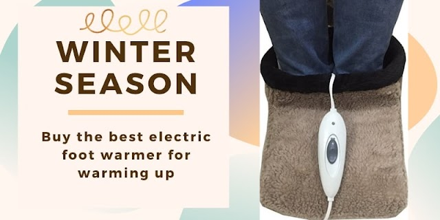 Buy the best electric foot warmer for warming up in the winter season