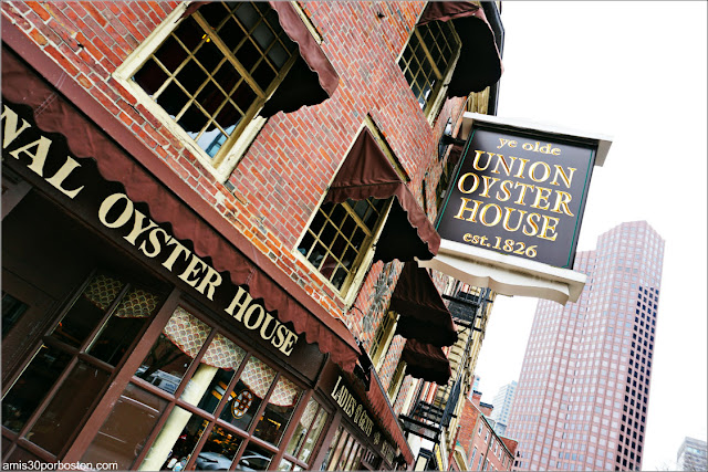Cartel del Restaurante Union Oyster House en Marshall Street, Boston