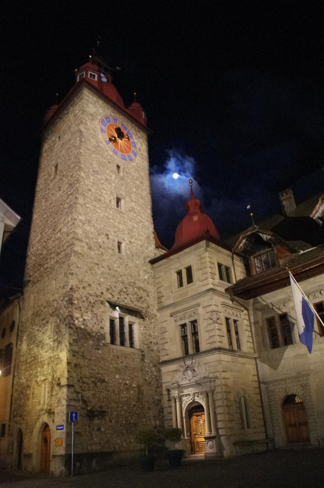 Lucerne Switzerland Old Town Night