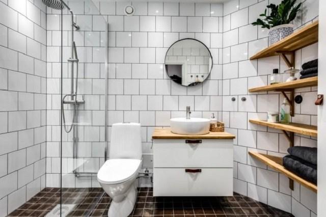Desain Kamar Mandi Modern Gaya Skandinavia