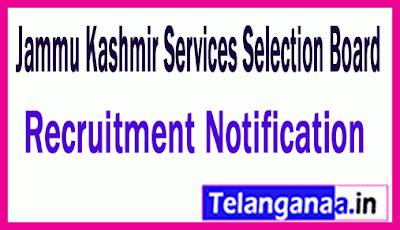 JKSSB Jammu Kashmir Services Selection Board Recruitment Notification