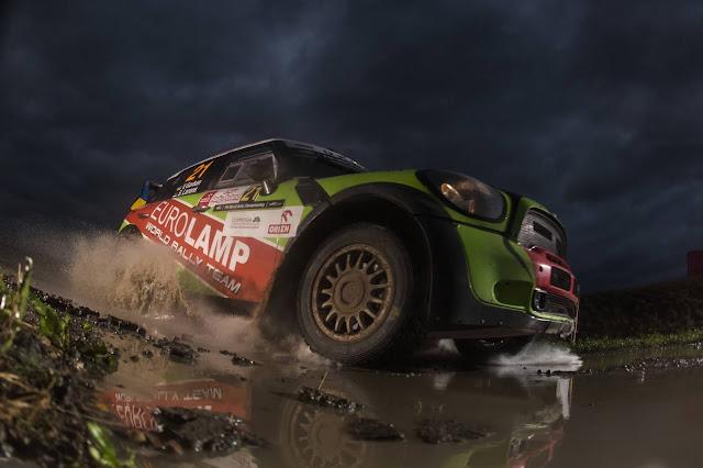 Rally Racing Car in dark