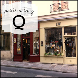 Paris A to Z: Q is for Quaint Shops