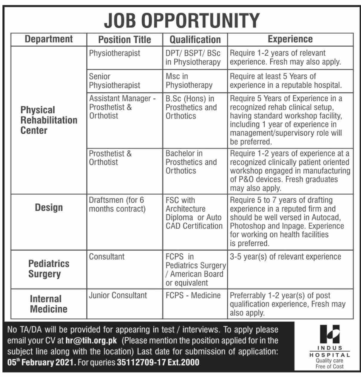 Indus Hospital Karachi - The Indus Hospital - Indus Hospital Jobs - Indus Hospital Current Vacancies - Indus Hospital Job Vacancy - The Indus Hospital Jobs - Indus Hospital Donation - Indus Hospital Zakat Account