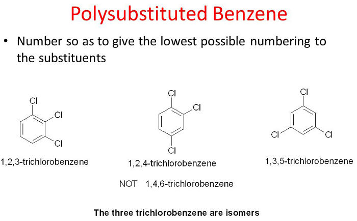 Ejemplos de hidrocarburos aromáticos monocíclicos polisustituidos