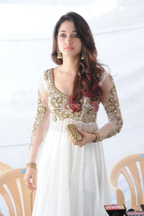 Tamanna cute photos in white dress
