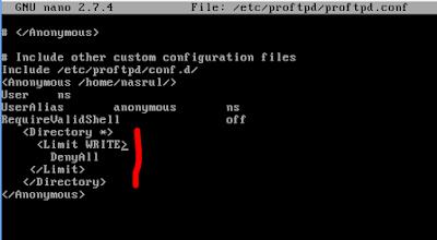Cara Membatasi Download dan Upload FTP Debian 9 Dengan Limit Proftpd