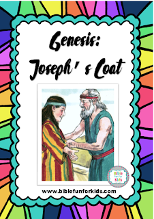Click here for more ideas and printables for Joseph's coat, his dreams and his brothers sell him.