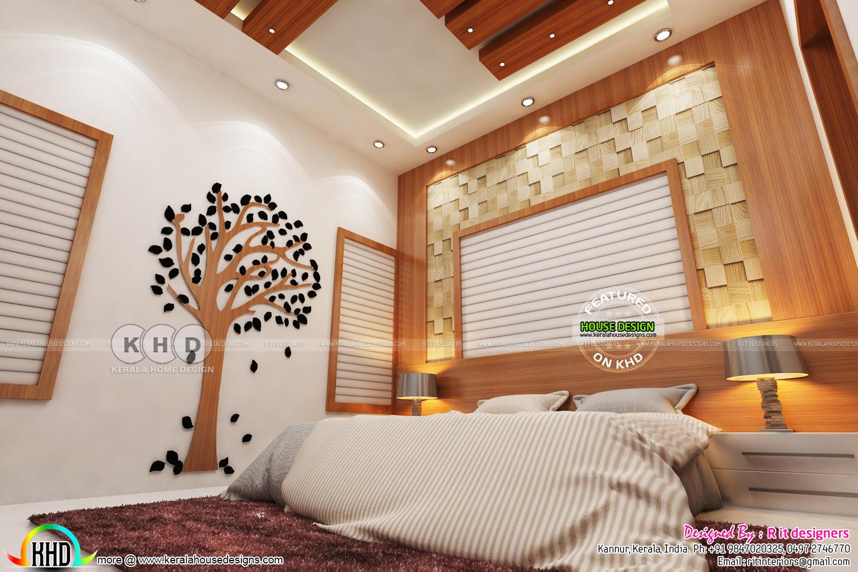 Grand Creative Master Bedroom Interior Kerala Home Design And Floor Plans