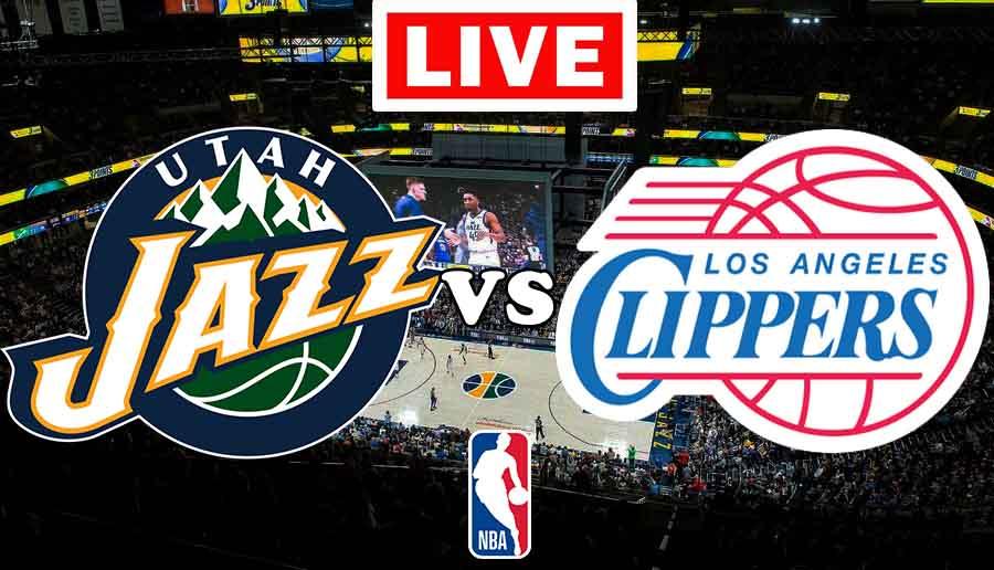 Utah Jazz vs. Los Angeles Clippers, VER GRATIS partido EN VIVO.