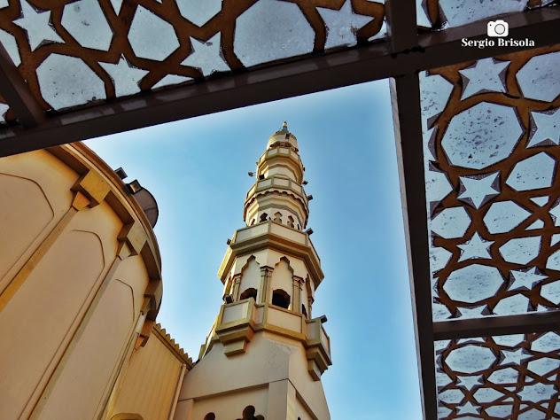 Fotocomposição com a Torre da Mesquita Brasil - Cambuci - São Paulo