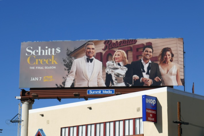 Schitt's Creek final season billboard