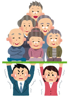 高齢者を支える日本の若者