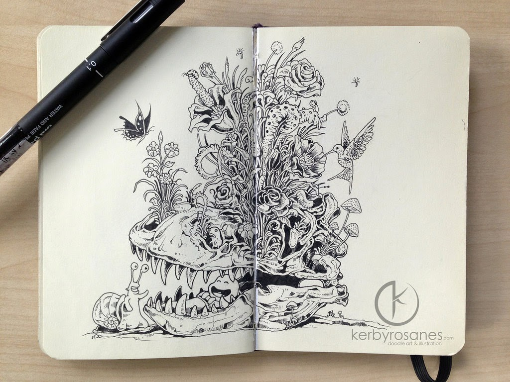 13-Bedtime-Stories-Sketchy-Stories- Kerby-Rosanes-www-designstack-co