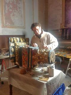 Laurent Hissier, restaurateur de bois doré à Nice