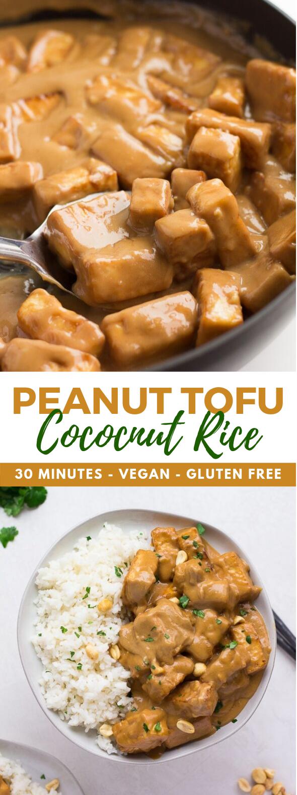 PEANUT TOFU WITH COCONUT RICE #vegan #vegetarian
