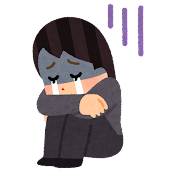 泣き寝入りのイラスト(女性)