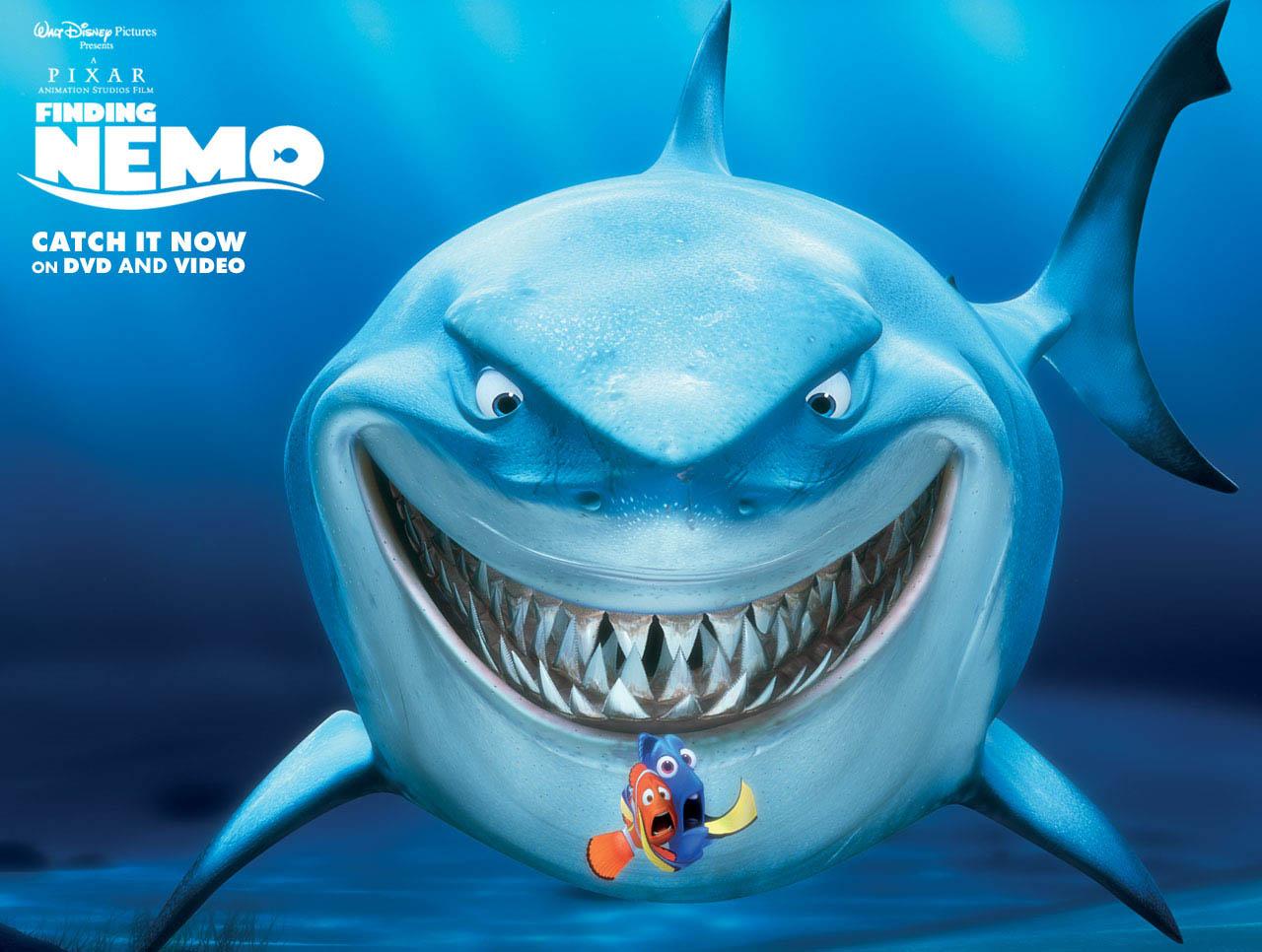 7 Disney Pixar Animal Bruce From Finding Nemo Cartoon ...