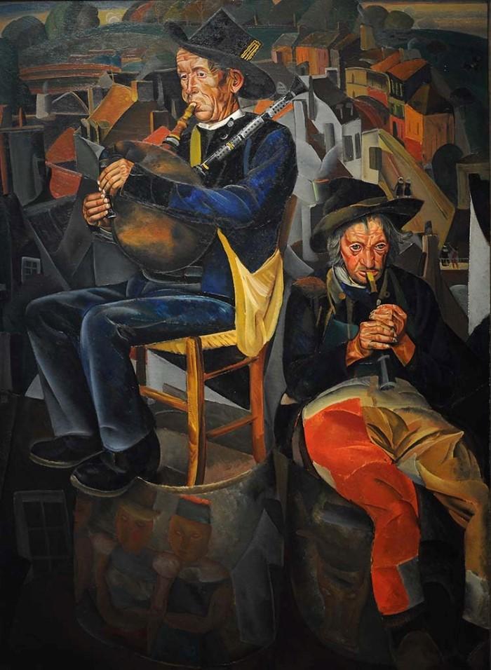 Борис Григорьев - Бретонские волынщики (Крестьяне, играющие на дудках)