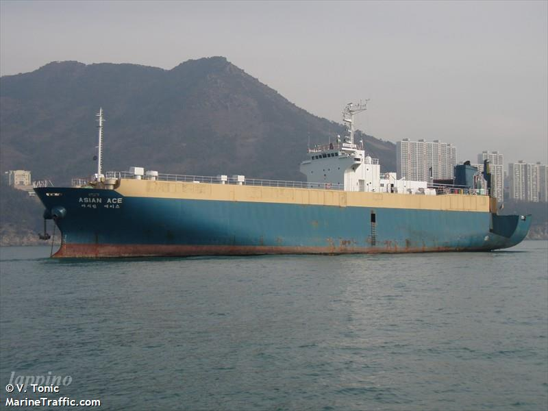 Car Carrier Ocean Tango runs aground off Busan