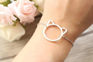"""bracelet argenté """"cat"""""""