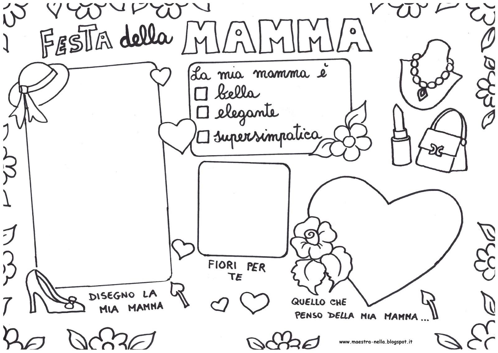 Disegni Da Colorare Fiori Maestra Mary.Festa Della Mamma Da Colorare