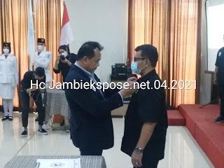 Sah, Pangeran HK Simanjuntak Pimpin PBFI Jambi Periode 2020-2024.