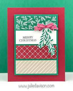 Stampin' Up! Clean & Simple Curvy Christmas Panel Card ~ Curvy Celebrations ~ www.juliedavison.com #stampinup