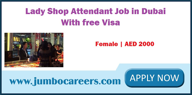 Lady Shop Attendant Job in Dubai