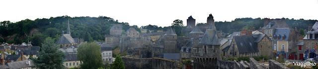 Vista panoramica di Fougeres dalla città alta