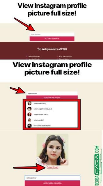 Cara Download & Melihat Foto Profile Instagram Orang dengan Resolusi Tinggi