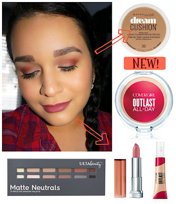 Cranberry-Mauve Look using NEW Drugstore Makeup