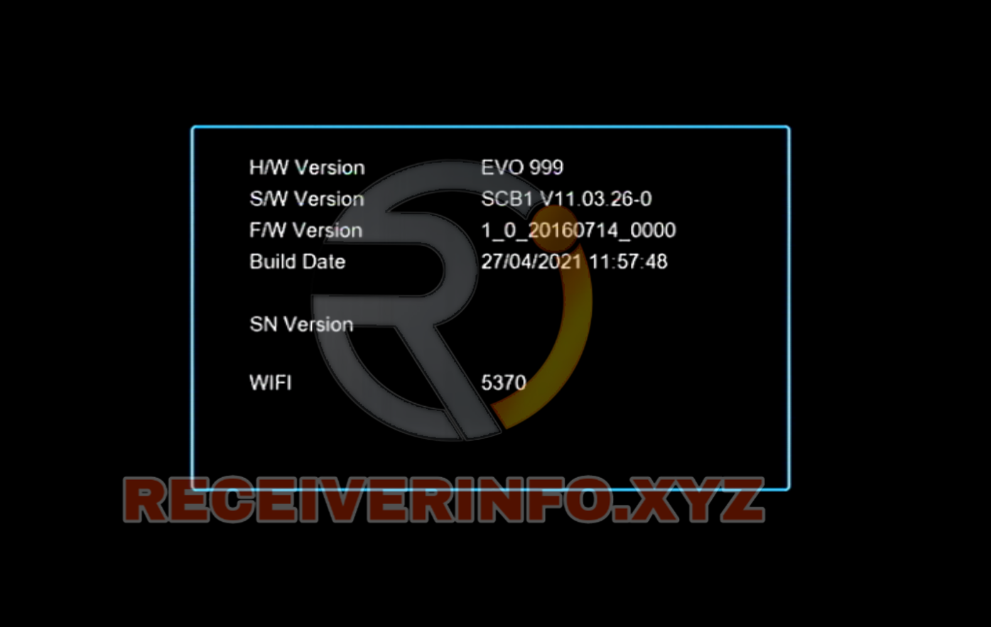 1506TV EVO 999 RECEIVER NEW SOFTWARE V11.03.26 UPDATE