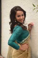 Tejaswi Madivada looks super cute in Saree at V care fund raising event COLORS ~  Exclusive 046.JPG
