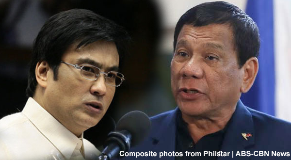 Bong Revilla supports Duterte's declaration of Martial Law in Mindanao