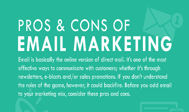 The Pros & Cons Of Email Marketing #infographic