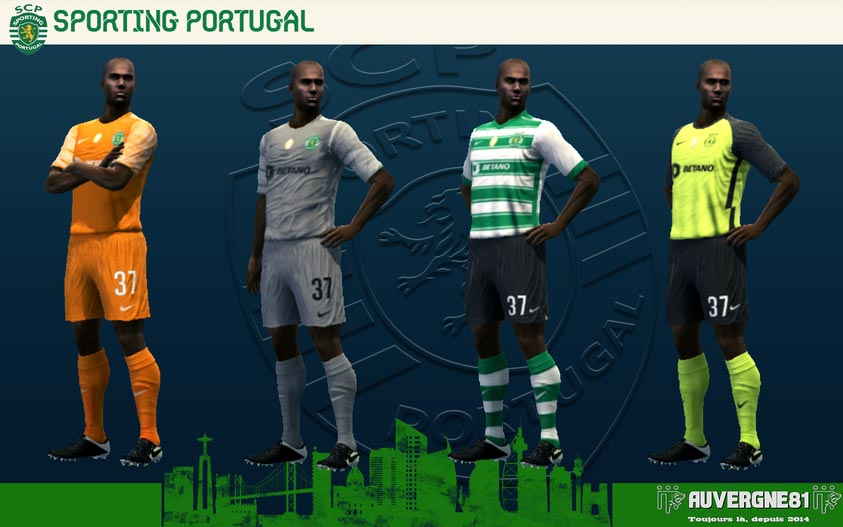 Kits Sporting Portugal 2021-2022 For PES 2013