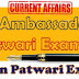 BRAND'S AMBASSADOR 2019 Current Affair for Patwar Exam 2020