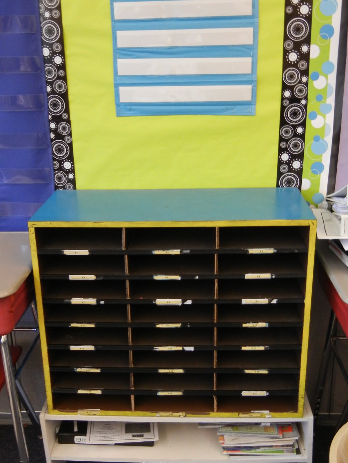 Classroom Mailbox Ideas ~ Ideas for cheap and easy student mailboxes in the